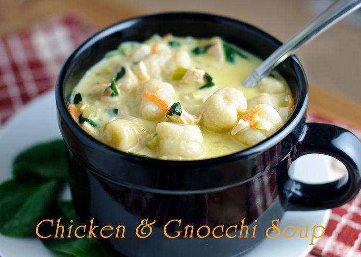 Chicken & Gnocchi Soup made with Homemade Gnocchi #gnocchi #chicken #soup