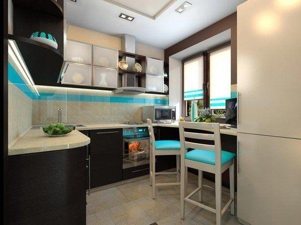 Дизайн маленькой кухни-1