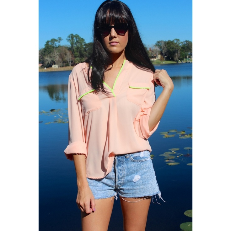 Neon Pipeline Blouse #sophieandtrey #shop #online #fashion #love #girl #style #spring #2013 #blouse #piped