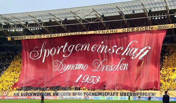 Great picture from Dynamo Dresden, 3rd league in Germany!