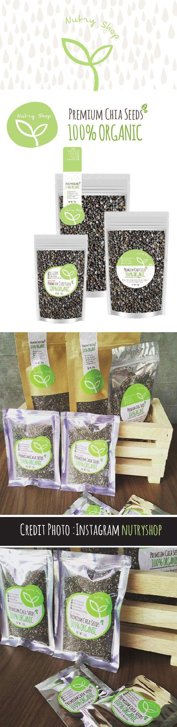 Premium Chia Seeds 100% ORGANIC credit photo: IG @Nutryshop #sticker #label #chiaseeds #organic