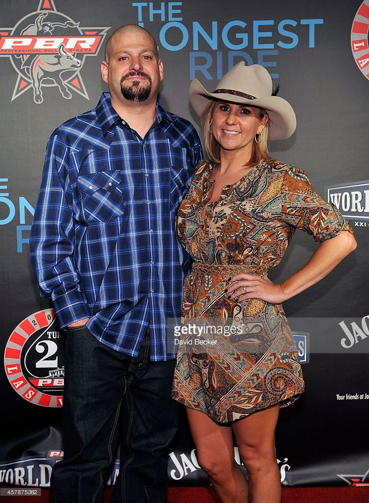 Television personalities Jarrod Schulz (L) and Brandi Passante attend the Professional Bull Riders Official PBR 21st Birthday Party at the Mandalay Bay Resort and Casino on October 25, 2014 in Las Vegas, Nevada.