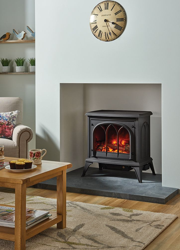 The popular Gazco Ashdon electric stove features our unique VeriFlame™ technology. It offers a superbly realistic log-effect fire with three different brig