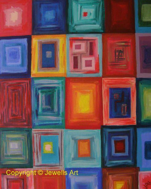Squares Original Painting by Julia Underwood