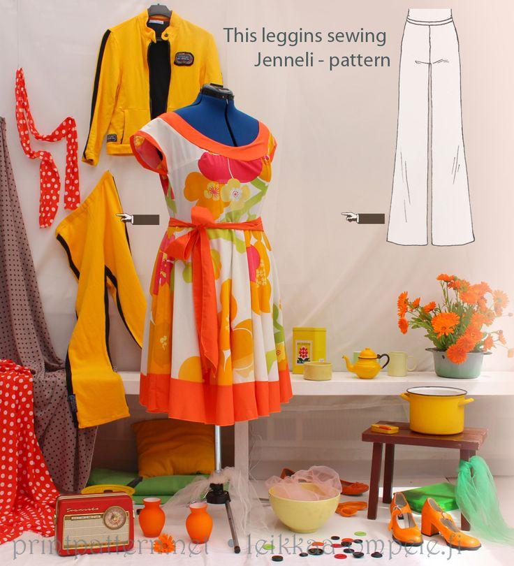 Quick and easy sewing patterns - buy and print on A4 paper.