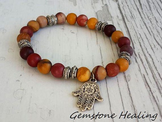 Yoga Bracelet Healing Bracelet Meditation Mookait by tovvanda