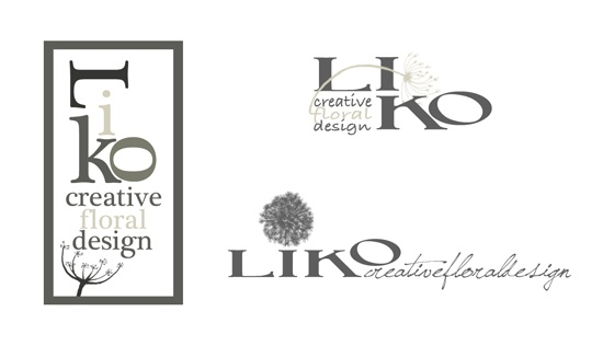 Some ideas for a Logotype Liko - Creative Floral Design