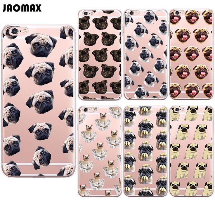 Cute Cartoon Dog Animal Pug Puppy Case For iPhone 6 6S 6 Plus 6s Plus 5 5S SE 7 7 Plus Transparent Silicone Phone Back Cover #clothing,#shoes,#jewelry,#women,#men,#hats,#watches,#belts,#fashion,#style