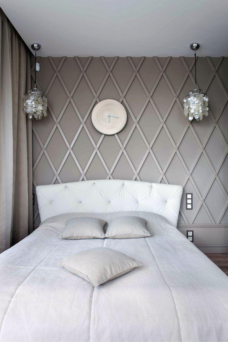Маленькая спальня   #бежевый #маленькаяплощадь #ромбы #спальня