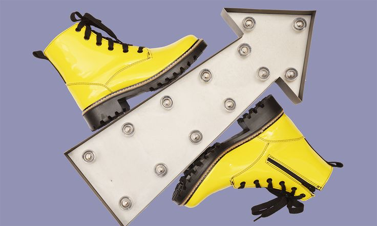 Live in color ! #yellowboots #womenfashion #madeincanada #fancyboots #footwear