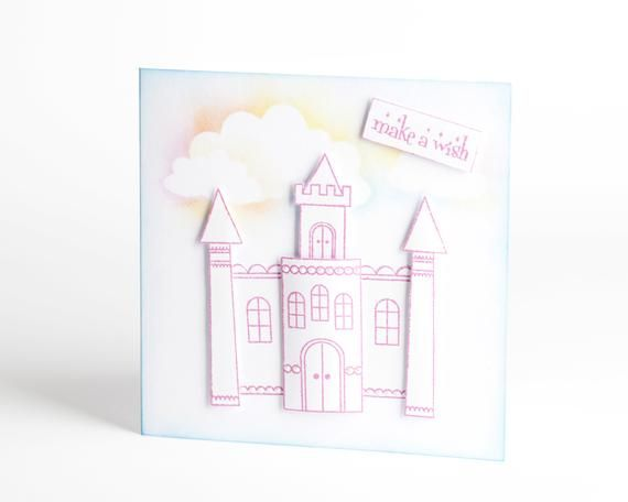 Castle Birthday Card Kit Rainbow Castle Kit Card Making Kit Beginner S Craft Kit Diy Cards Build Your Own Castle Craft Kit For Adults First Birthday Cards Card Making Kits Card Kit