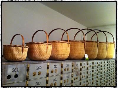 Nested Nantucket baskets.