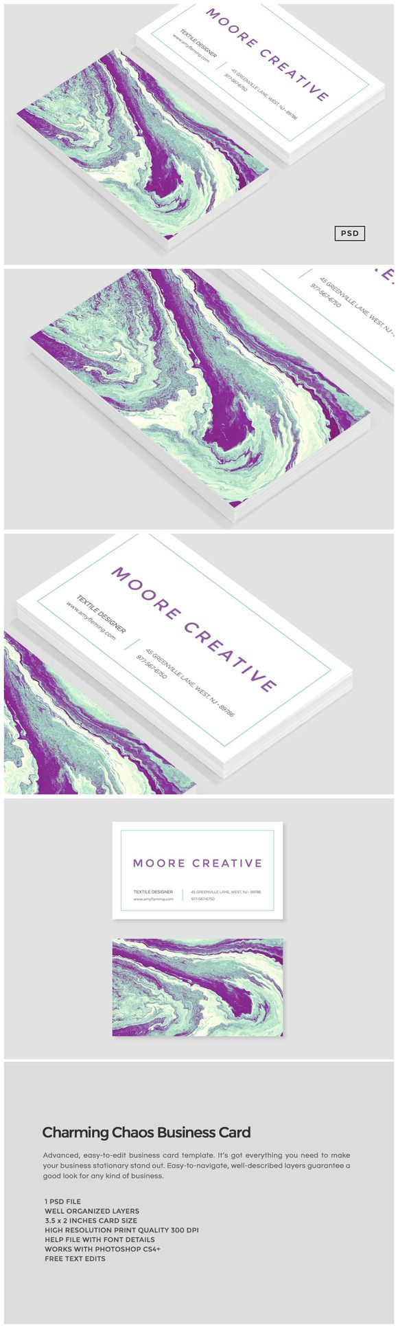 194 best business cards templates images on pinterest identity charming chaos business card by the design label on creativemarket magicingreecefo Gallery