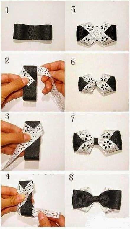 Olhem o passo a passo para gravata borboleta.   Fácil de fazer !!         usefuldiy.com