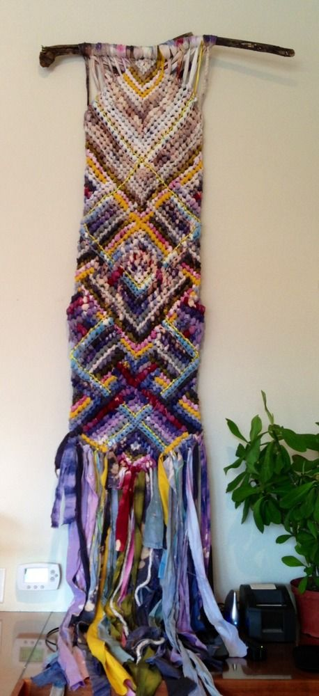 Friendship bracelet wall hanging