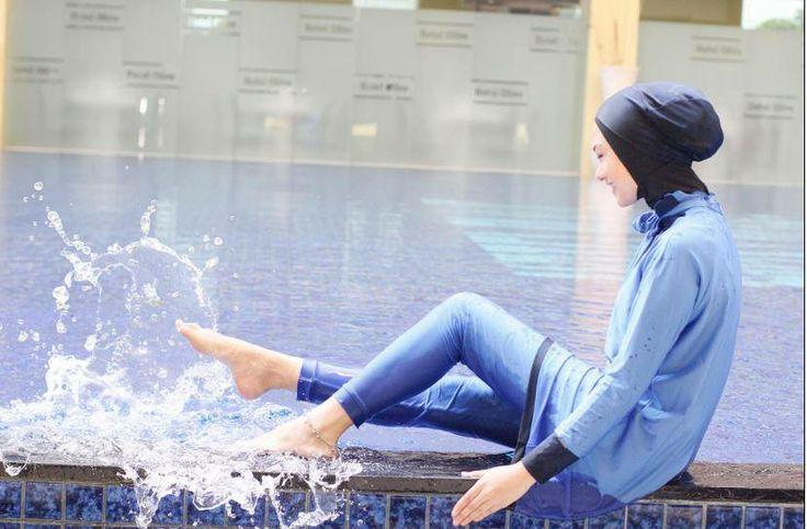 Splash!!!  The gorgeous Indah Nada Puspita having fun with her MADAMME BK!  Outfit:Turquoise Shiny blue  Online Store: www.madammebk.com  @indahnadapuspita #madammebk #indahnadapuspita #modestswimwear #modestswimsuit #burqini #islamicswimsuit #burquini #islamicswimwear #burkini #hijabfashion#Superexclusivefabric #hijabiswimwear #modestswimsuit #burkini #burquini #burqini #hijabswimsuit #paris #sunset #madeinfrance