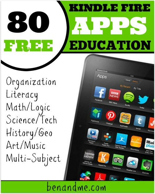 80 Free Kindle Fire Apps for Education