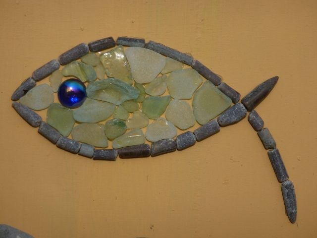 Seaglass and fossil fish as Alpha, for Songline