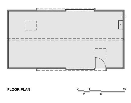 Elk Valley Tractor ShedFloor Plan