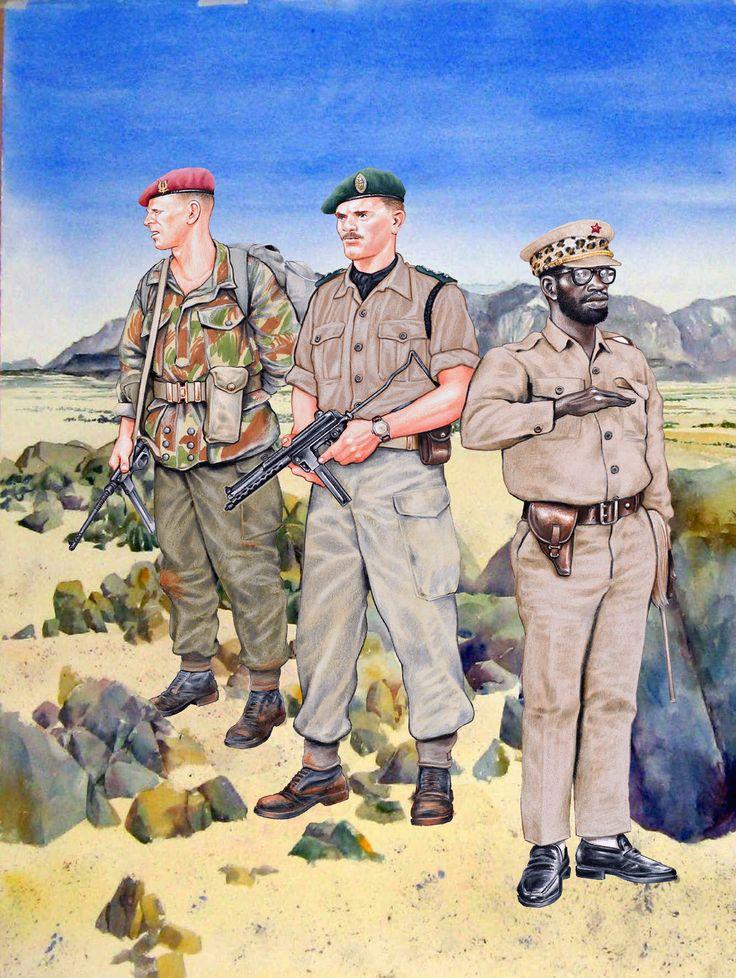 Belgian 1er Bn Paratrooper at Stanleyville during Congol's 1964 Rebellion