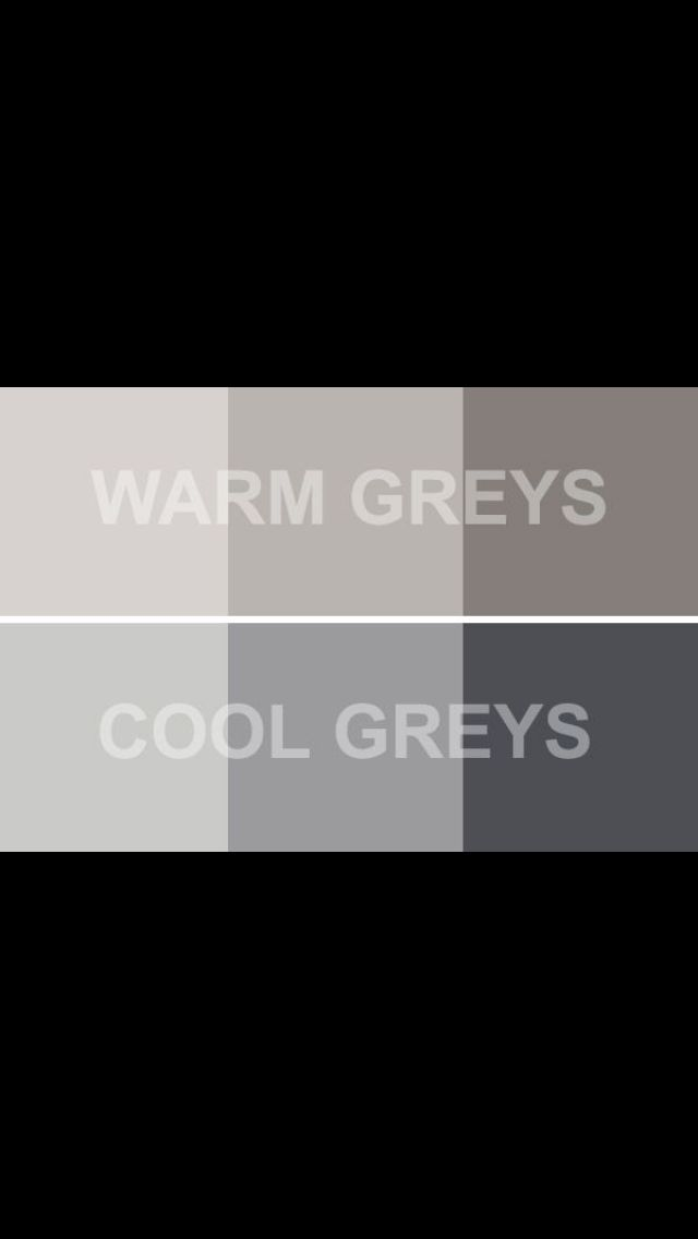 Warm Grays & Cool Grays
