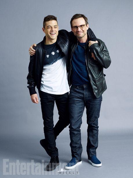 Comic-Con 2015 Star Portraits: Day 2 | Rami Malek and Christian Slater, 'Mr. Robot' | EW.com