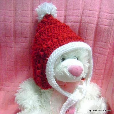 Christmas baby pixie hat - free pattern crochet newborn ...