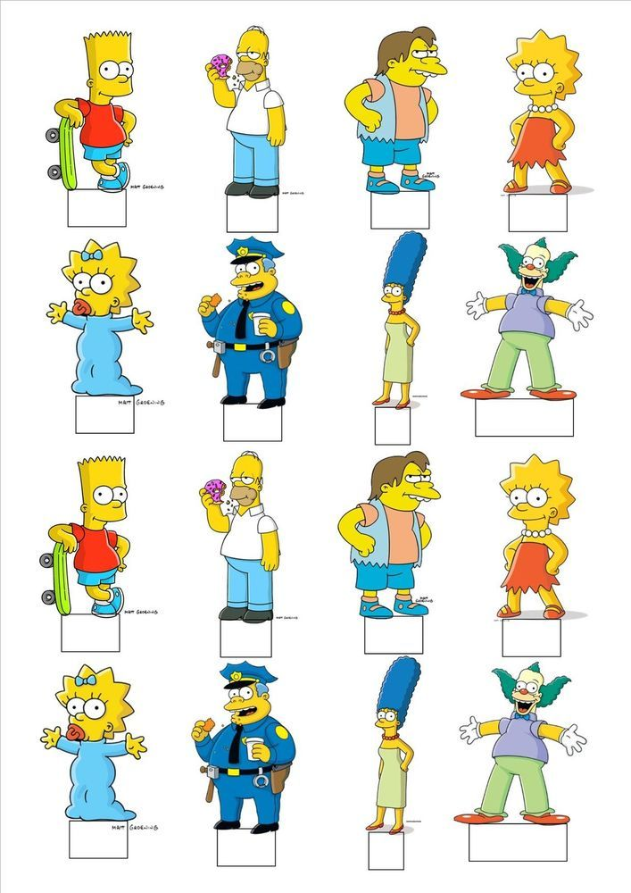 NEW!! The Simpsons Bart Homer Lisa Marge Maggie Nelson STANDING cake toppers in Home, Furniture & DIY, Wedding Supplies, Other Wedding Supplies   eBay