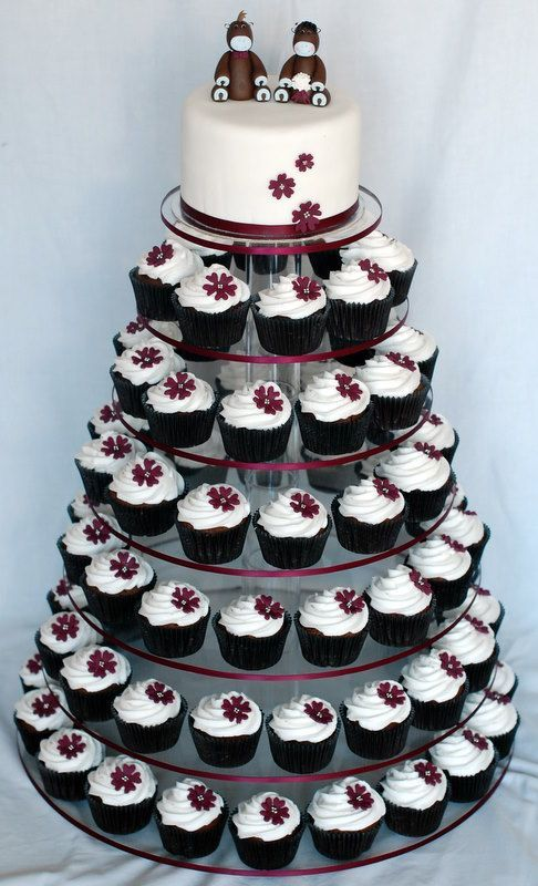356 best Cupcake - Towers images on Pinterest   Cake wedding ...