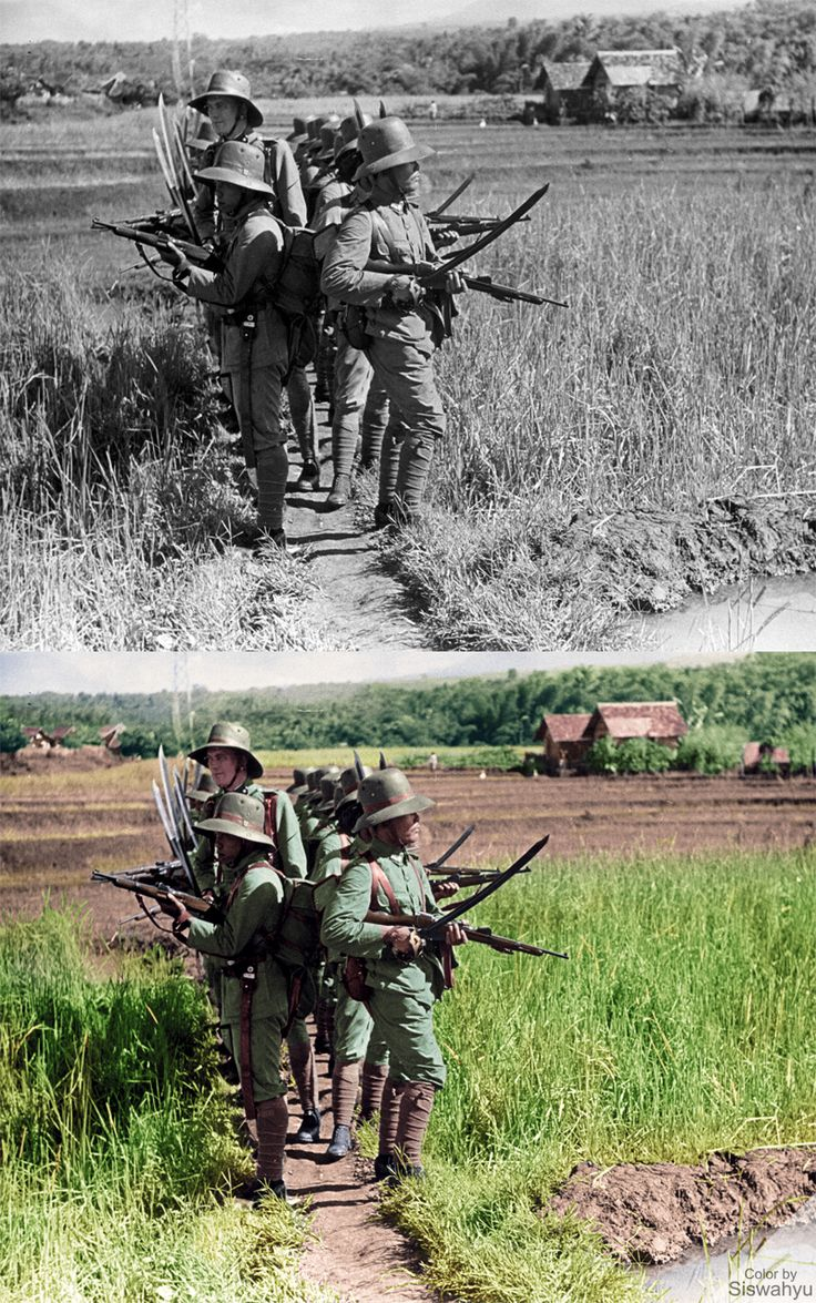 """KNIL, Royal Dutch East Indies Army"" (Augustus, 1939) Photos by: Onbekend  Source:  http://www.gahetna.nl/…/de…/start/8/tstart/0/q/zoekterm/knil"