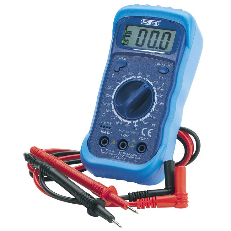 Digital multimeter protective case battery included gas