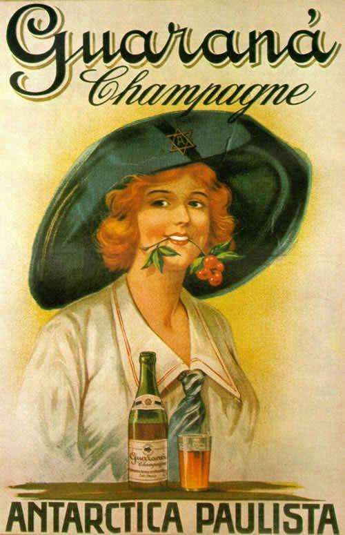 Violeta lilás Vintage: Cartazes de Propaganda Antigas de Produtos Brasileiros