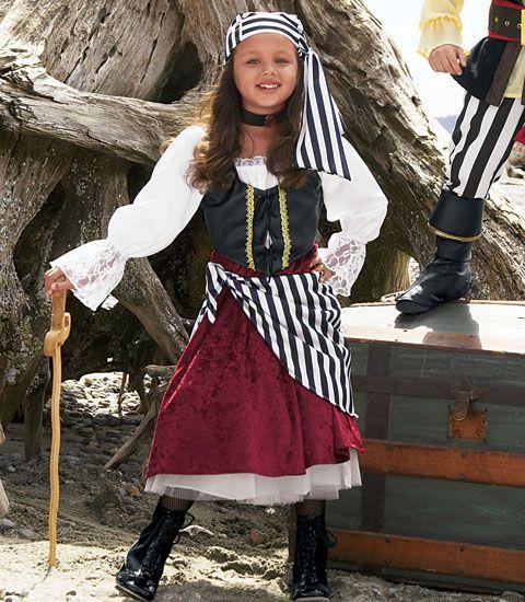 pirate girl child costume - Chasing Fireflies