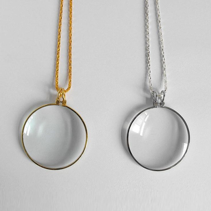 Decorative Monocle Necklace With 5x Magnifier Magnifying Glass Pendant Gold Silver Plated Chain Necklace For Women Jewelry