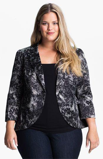 Bellatrix Lace Print Blazer (Plus size) available at #Nordstrom