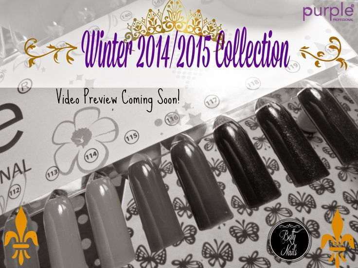 Betty Nails: Purple Professional Winter Colection PREVIEW Video