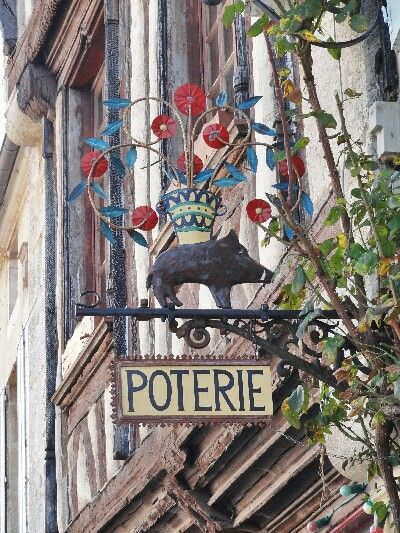 Pottery Sign in France.