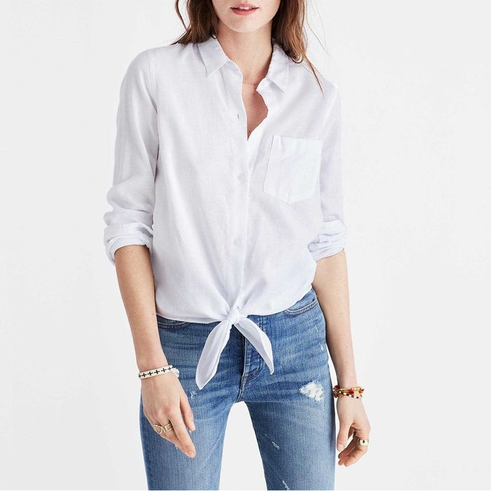 A dress shirt, button shirt, button-front, button-front shirt, or button-up shirt is a garment with a collar and a full-length opening at the front, which is fastened using buttons or shirt studs. A button-down or button-up shirt is a dress shirt which has a button-down collar – a collar having the ends fastened to the shirt with buttons.