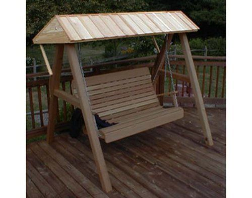 Red Cedar Wooden Porch Swing Canopy for 4' and 5' Swing by Fifthroom. $599.00. Free Shipping. Features: Easy Assembly. Please Note: Item delivered by motor freight (common carrier).Customer may need assistance to unload. Hardware: Zinc Plated Steel. This Red Cedar Wooden Porch Swing Canopy is great for real swingers who don't want to be hindered by the weather. Add it to your Swing Stand, and you can be swingin' in the rain.