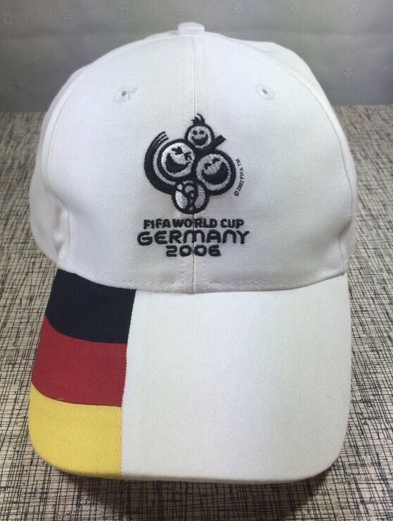 Official Fifa World Cup Germany 2006 Embroidered Mascot Soccer Football Hat Cap  | eBay