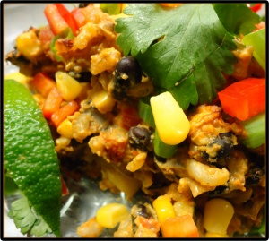 Mexican Style Bean and Rice Casserole #recipe