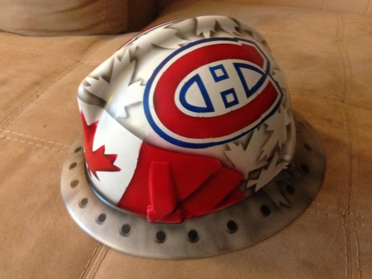 Another custom airbrushed hard hat for a Habs fan!