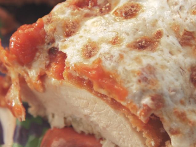 Garlicky Chicken Parmesan Recipe : Nancy Fuller : Food Network - FoodNetwork.com