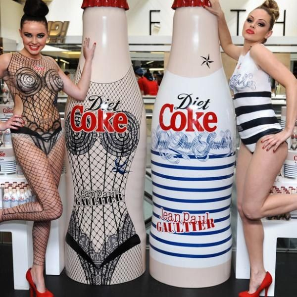 Jean Paul Gaultier for Diet Coke Live Window Display 2012 at Harvey Nichols