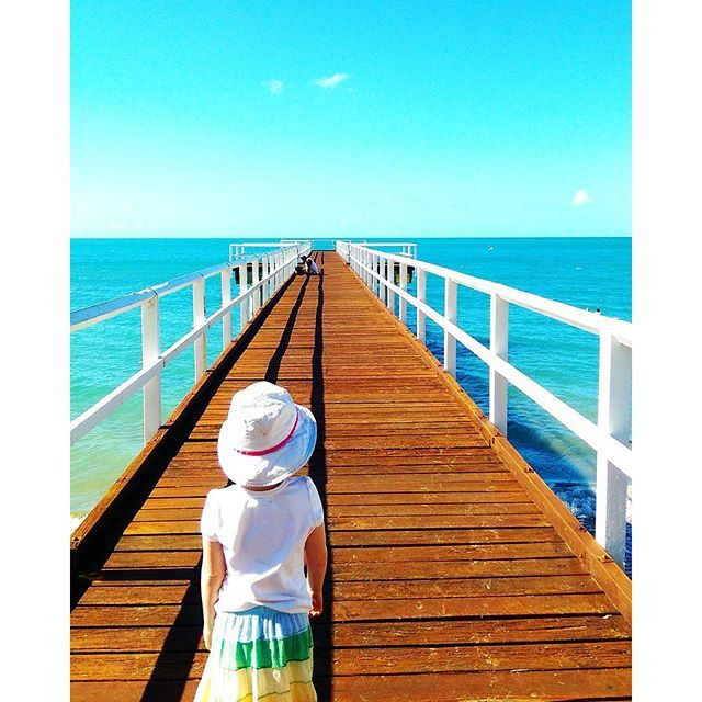 Jetty exploring in Hervey Bay #thisisqueensland by @coastalvintage