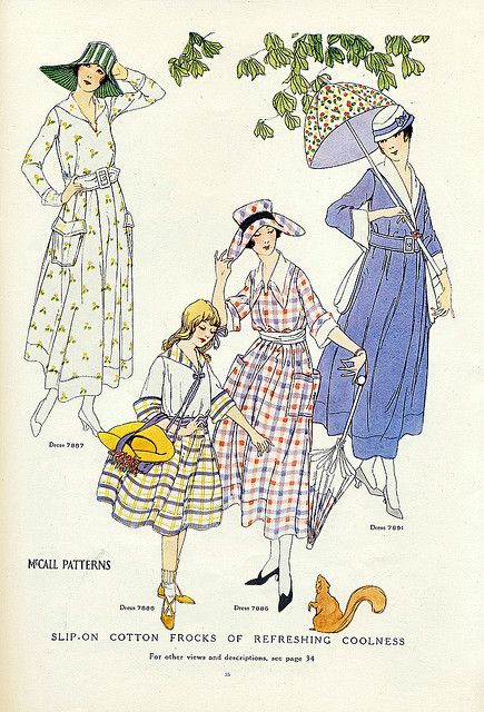 1917 Great collars and easy dresses