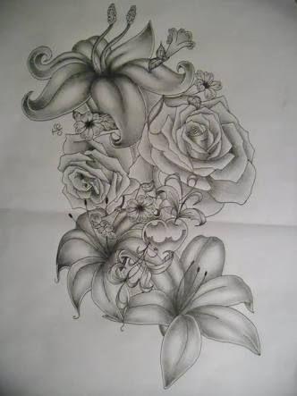 Resultado de imagem para sleeve tattoos for girls roses