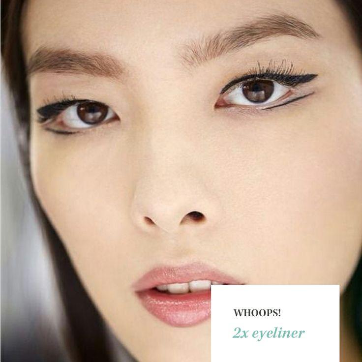 Dubbele eyeliner. Yay or nay?