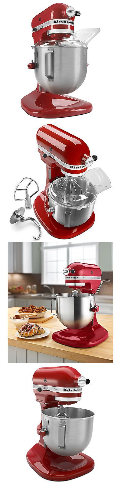 Small Kitchen Appliances: New Kitchenaid Heavy Duty Pro 500 Stand Mixer Lift Ksm500psqer Allmetal 5-Qt Red -> BUY IT NOW ONLY: $259.99 on eBay!