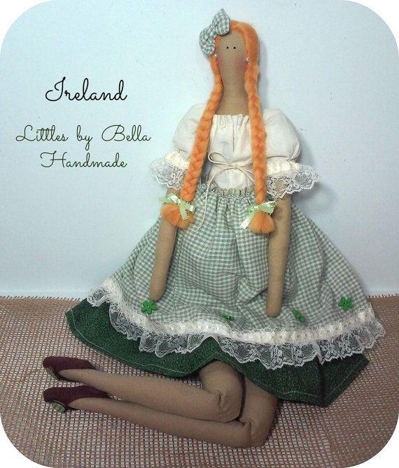 LIrlanda Tilda è una bambola speciale, fatta senza duplicati... per decorare la vostra casa, Cerca un posto speciale per vivere... indossa un